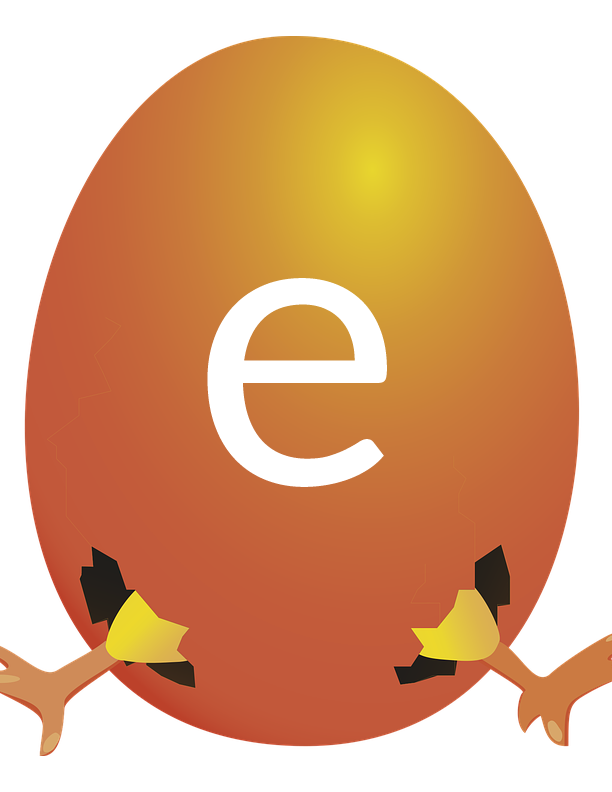 Egg with hatching chicken